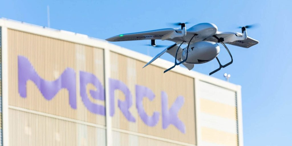 Merck begins testing vaccine delivery by drone