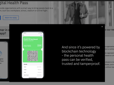 IBM Digital Health Pass