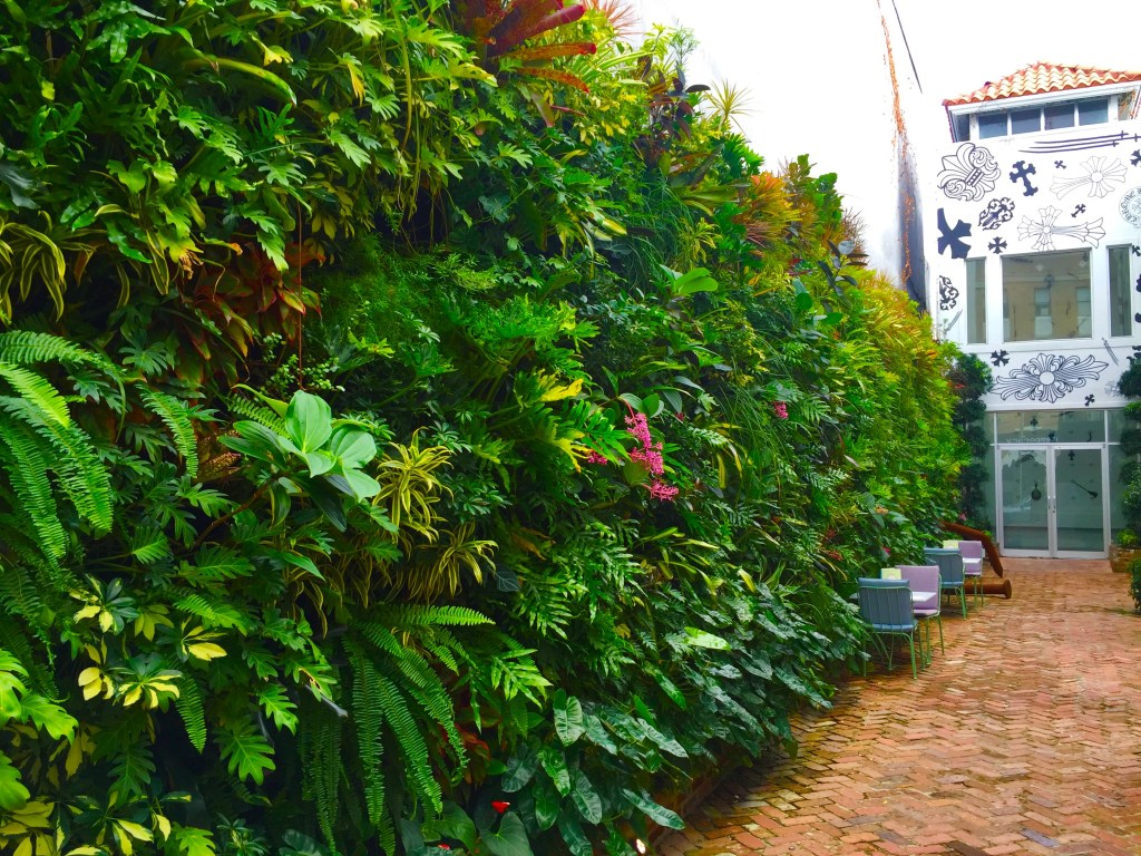 Best Vertical garden In Miami Florida Live Wall by biophilic designer Jeffrey Allis Delray Beach Florida / Biophillia Principles
