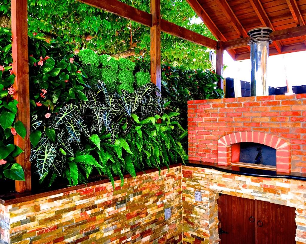 Green wall , by biophilic Designer , Jeffrey Allis In Miami Florida USA