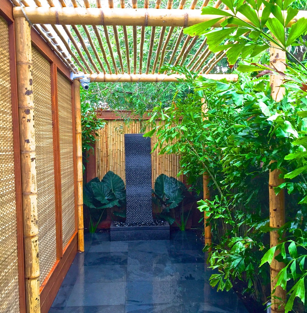 best example of biophilic principle, Biopihillia bamboo design By biophilic designer Jeffrey Allis In Miami Florida Usa Best patio design