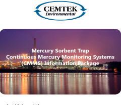 Cemtek Literature on Mercury Sorbant Trap Solution
