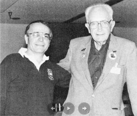 Фриц Лейбер и его сын Джастин, 1987 год