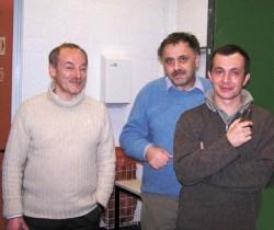 На фото слева направо: Дмитрий Дьяконов, Виктор Петров и Максим Поляков