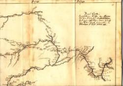 Карта из рукописного дневника Д.Г.Мессершмидта
