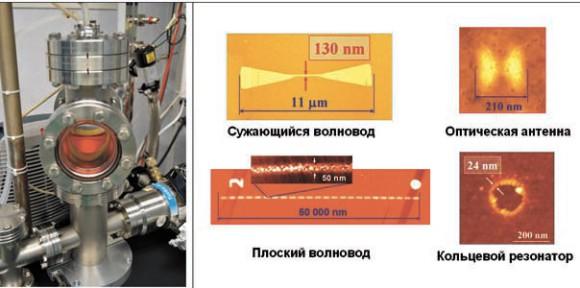 Атомный нанолитограф и полученные с его помощью наноструктуры на поверхности диэлектрика
