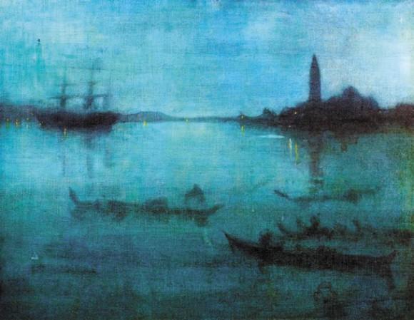 Ноктюрн в синем и серебряном. Венеция, лагуна