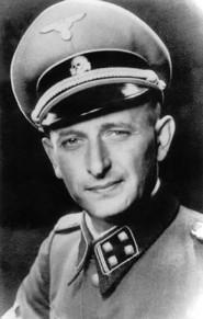 Адольф Эйхман (1906–1962) — немецкий офицер, сотрудник Гестапо, непосредственно ответственный за массовое уничтожение евреев