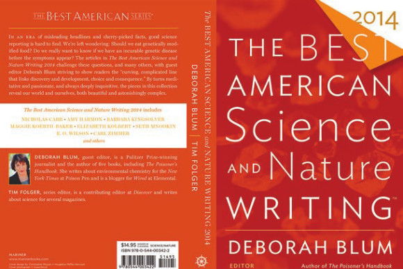 Обложка сборника «The Best American Science and Nature Writing 2014»