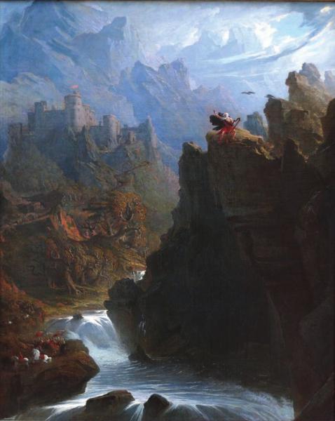 Бард. Картина Джона Мартина. Ок. 1817