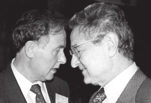Валерий Сойфер и Джордж Сорос (справа). Фото с сайта http://lebed.com
