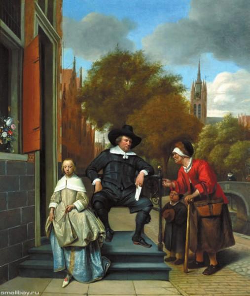 Портрет бургомистра Дельфта с дочерью