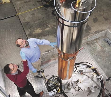 Установка ADMX.  Фото с сайта physicsworld.com