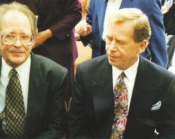 С Вацлавом Гавелом, 1995 год