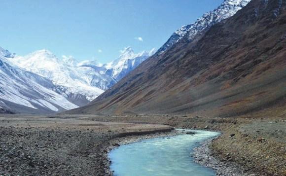 Верховья реки Чандра (около 4050 м). Лахул. 9 октября 2011 года. Фото А. Андреева