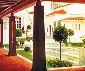 Дом и сад Ольбриха на Всемирной выставке в Сент-Луисе в 1904 году