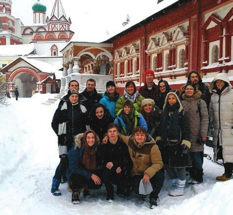 Участники школы в Саввино-Сторожевском монастыре. Фото С. Эванс