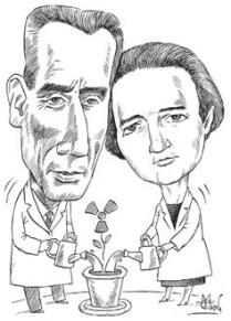 Фредерик и Ирен Жолио-Кюри