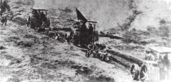 Американский тракторный отряд в селе Тойкино