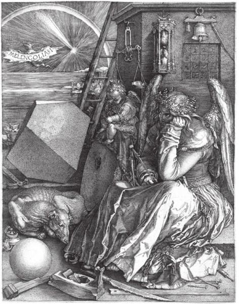 Альбрехт Дюрер. Меланхолия. Резцовая гравюра на меди. 1514 год