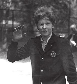 Будущий астрофизик Сергей Попов. Весна 1987 года, 8-й класс. Фото А. Шомполова