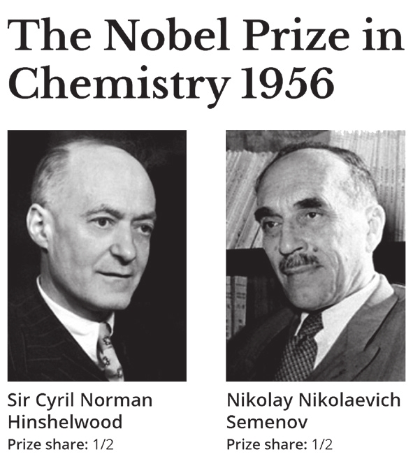 The Nobel Prize in Chemistry 1956