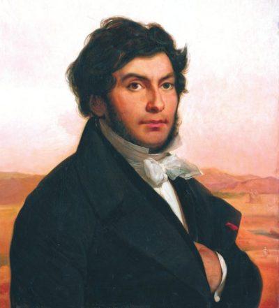 Жан-Франсуа Шампольон. Портрет работы Леона Конье (1831), Лувр, Париж