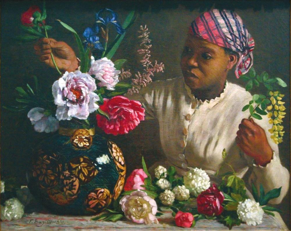 Негритянка с пионами. 1870