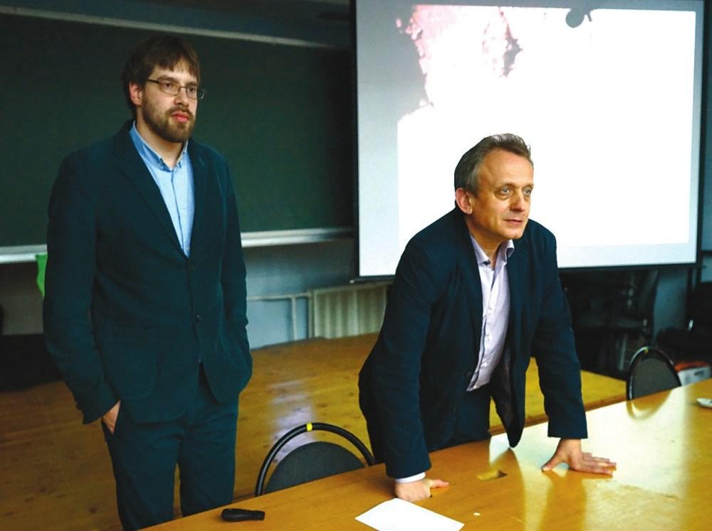 Савва Михеев и Алексей Гиппиус на семинаре в МЦНМО. Фото Н. Деминой