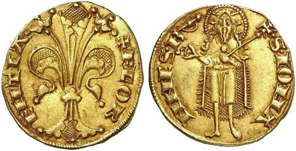 1. Флорин, Флоренция, около 1300 года (kuenker.de)