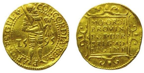 8. Нидерландский дукат нового образца (1595) (Emporium Hamburg Numismatics)