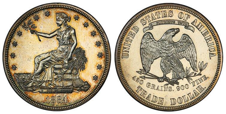 14. Торговый доллар США, 1884 год («Википедия», Национальный музей американской истории)