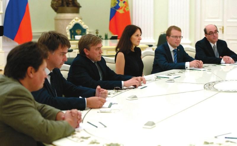 На встрече В. Путина с получателями мегагрантов 19 сентября 2016 года. Фото с сайта kremlin.ru
