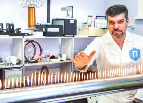 Алексей Иванченко в лаборатории физики Политехнического музея
