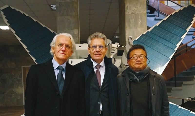 Жерар Муру, Александр Сергеев и Тоси Эбисудзаки