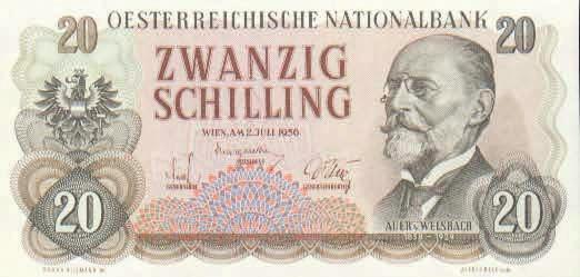 Рис. 6. К. Ауэр на банкноте