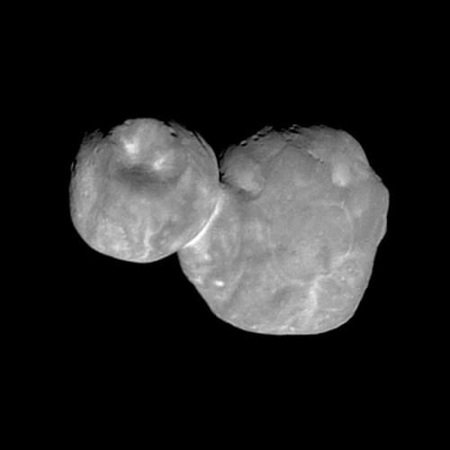Фото Ультима Туле, полученное в начале 2019 года (NASA)