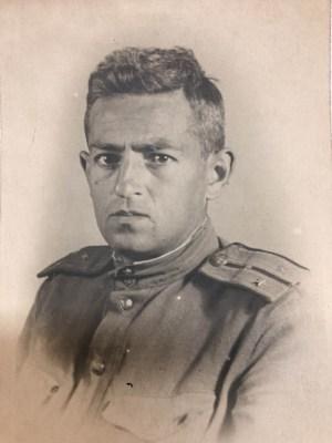 Курсант военной академии им. Фрунзе старший лейтенант И. А. Рапопорт. 1943 год