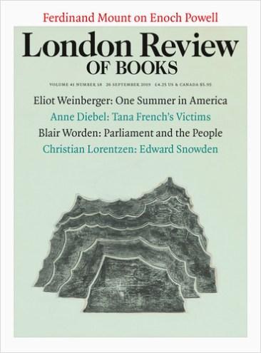 London review of Books Vol. 41 No. 18 26 September 2019