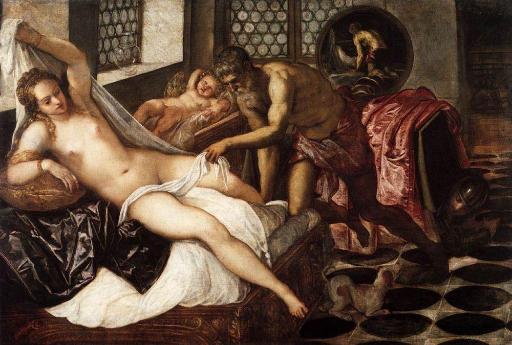 Тинторетто. Венера и Марс, застигнутые Вулканом. Около 1555 года. Старая Пинакотека, Мюнхен