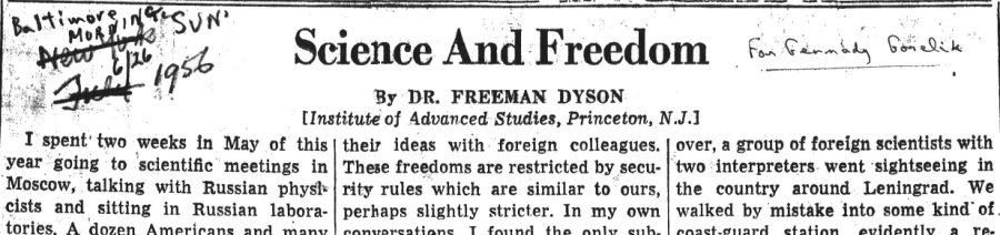 Science and Freedom