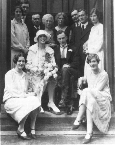 Свадебная фотография Оорта. 24 мая 1927 года