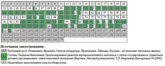 Лесных Руслан Анатольевич (2006). Таблица заимствований