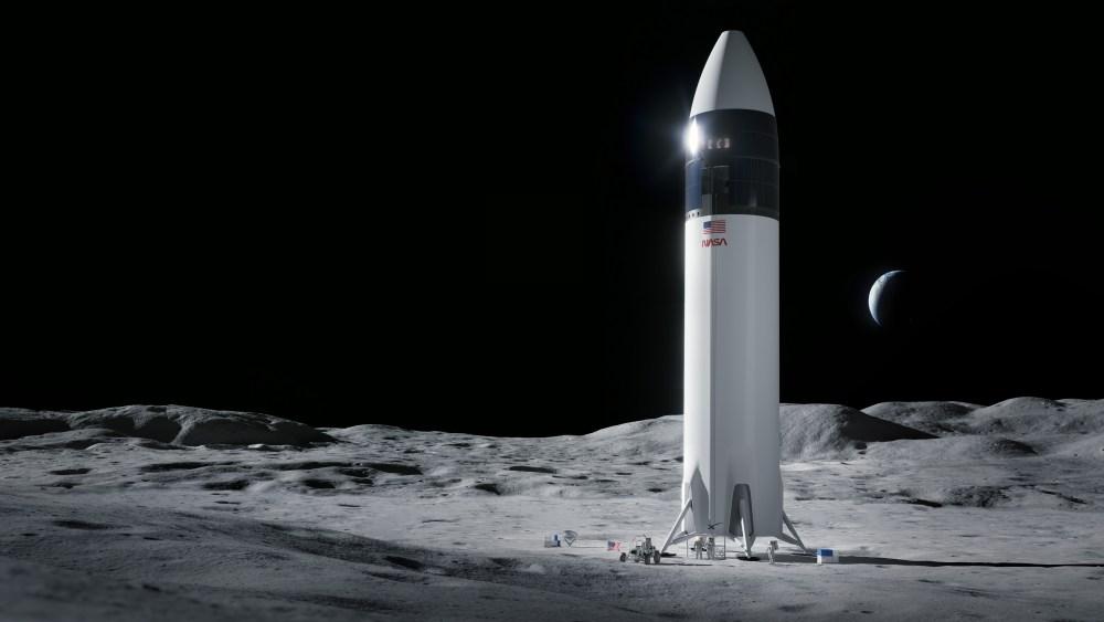 Дизайн посадочного модуля космического корабля SpaceX Starship, который доставит первых астронавтов NASA на поверхность Луны по программе Artemis. Изображение: SpaceX