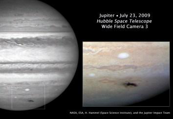 Снимок потемнения, сделанный «Хабблом» 23 июля 2009 г.