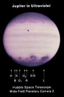 Снимок в ультрафиолете 21 июля 1994 г.
