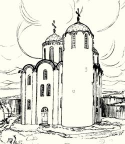 Собор Антониева монастыря. 2-й этап строительства. Реконструкция Г.М.Штендера