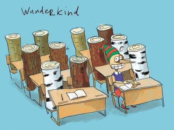Ученые шутят: карикатура в лаборатории Александра (Рис. Д. Гапчинского)