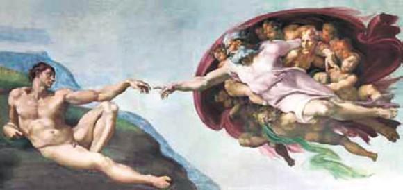 20.3. Микеланджело. Сотворение мира. Фрагмент