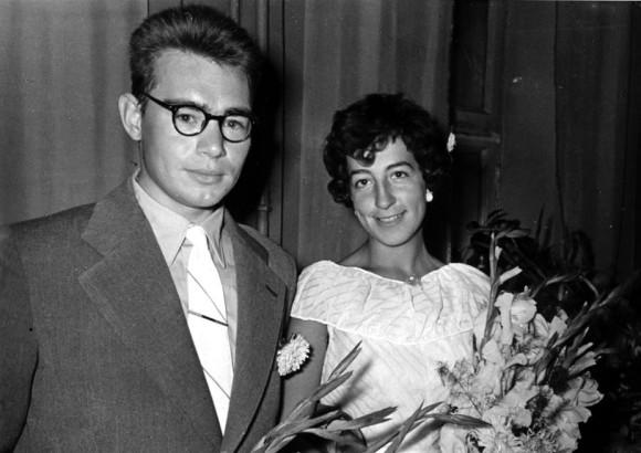 Свадебная фотография А.А. Кириллова и его жены. 1960. Фото семейного архива